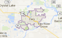 cary-IL-map